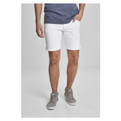 5 Pockets Slim Fit Denim Shorts - white Urban Classics