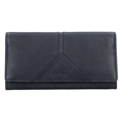 Dámská kožená peněženka Lagen Frela - tmavě modrá