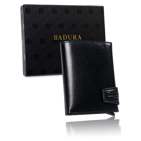 BADURA Black small men´s leather wallet Fashionhunters