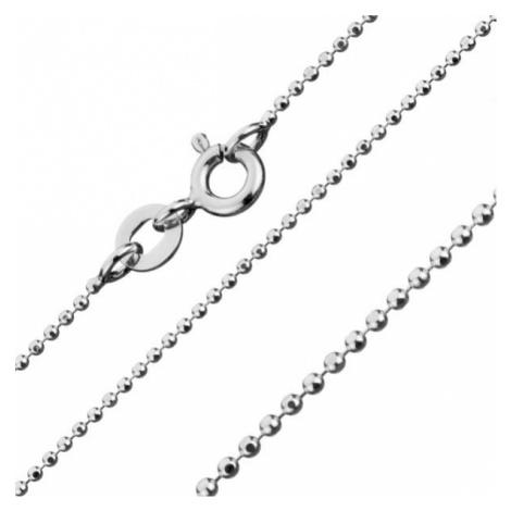 Stříbrný řetízek 925 v armádním stylu, šířka 1 mm, délka 500 mm Šperky eshop