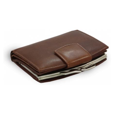 Tmavě hnědá dámská kožená rámová peněženka Norah Arwel