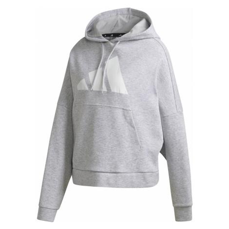 Dámská mikina adidas BACK ZIP GRAPHIC Šedá / Bílá