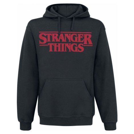 Stranger Things Classic Logo mikina s kapucí černá