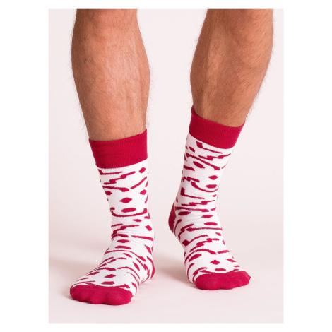 Pánské bílé ponožky s potiskem FPrice