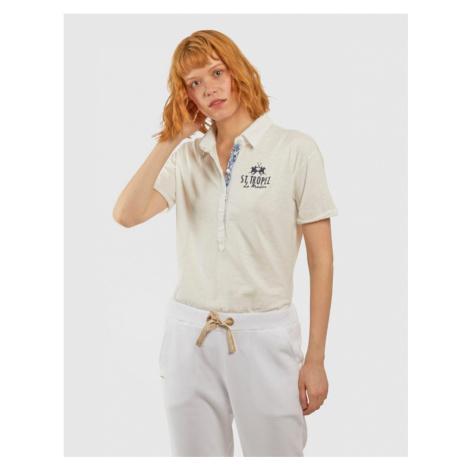 Polokošile La Martina Woman S/S Polo Slub Jersey - Bílá