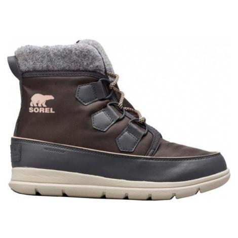 Sorel EXPLORER CARNIVAl tmavě šedá - Dámská zimní obuv