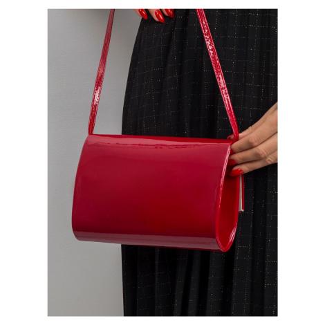 Malá, lakovaná, tmavě červená kabelka ONE SIZE FPrice