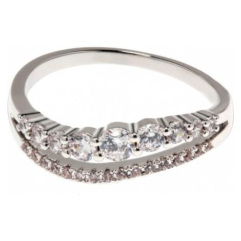 Anna Grace prstýnek Silver Sparkle Crystal 88 - 18 mm