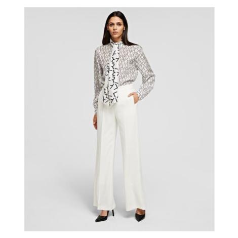 Kalhoty Karl Lagerfeld Tailored Pants - Bílá