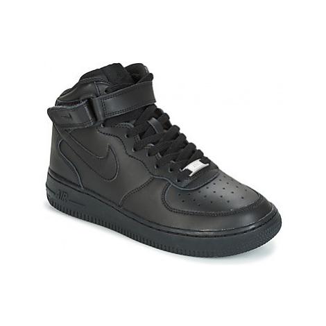 Nike AIR FORCE 1 MID 06 JUNIOR Černá