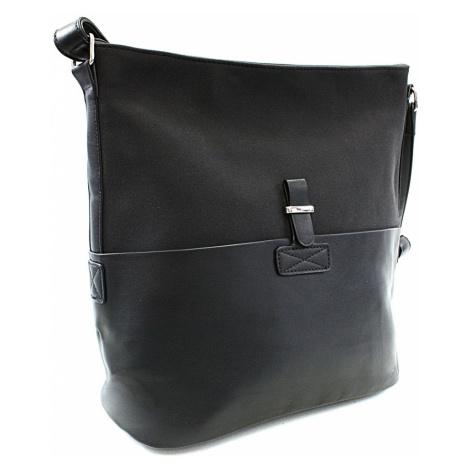 Černá elegantní velká crossbody kabelka Zerlinda Tapple