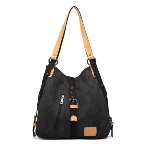 Černá pevná látková kabelka přes rameno Akopa Lulu Bags