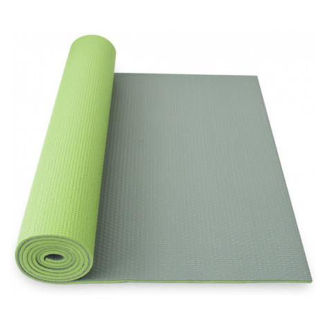 YOGA MAT YATE DVOUVRSTVÁ - protiskluzový povrch, zelená/šedá 1730x610x6 mm - zelená/šedá