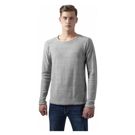 Urban Classics Fine Knit Melange Cotton Sweater grey melange