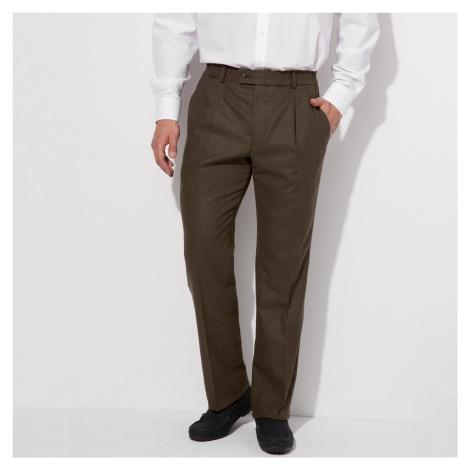 Blancheporte Kalhoty s vysokým pasem, bez záševků, polyvlna oříšková