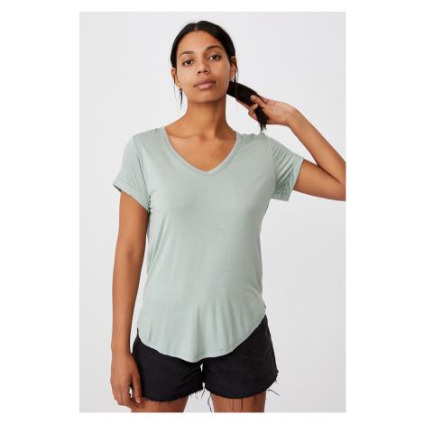 Dámské basic triko s krátkým rukávem Karly světlezelená Cotton On