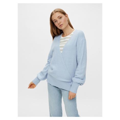 Pieces světle modrý dámský svetr