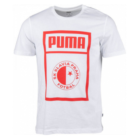 Puma SLAVIA PRAGUE GRAPHIC TEE tmavě šedá - Pánské triko