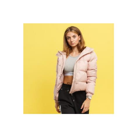 Urban Classics Ladies Hooded Puffer Jacket světle růžová