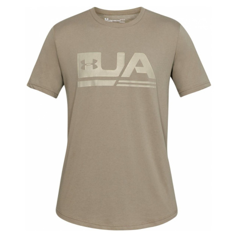 Tričko Under Armour Sportystyle SS Drop Hem Hnědá
