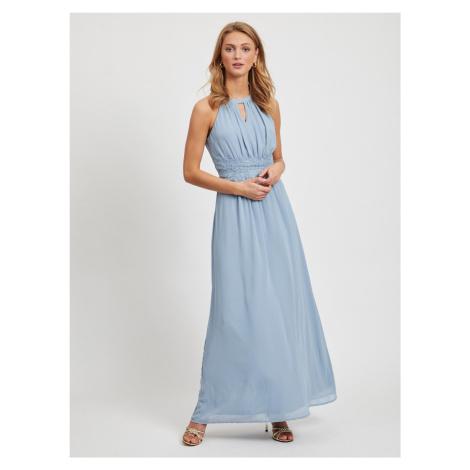 Vila modré maxi společenské šaty