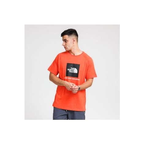 The North Face M Rag Red Box Tee tmavě oranžové