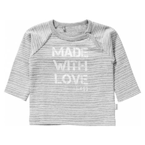BESS Tričko bílá / světle šedá