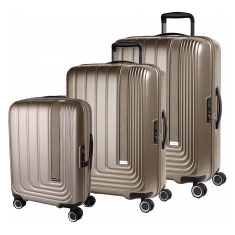 March Sada cestovních kufrů Beau Monde S + M + L, bronzová