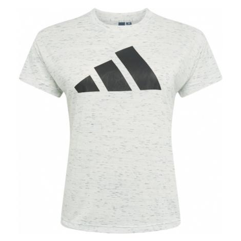 ADIDAS PERFORMANCE Funkční tričko bílý melír / černá