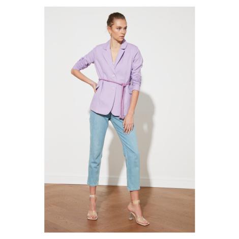 Trendyol Lilac Tie Detail Jacket