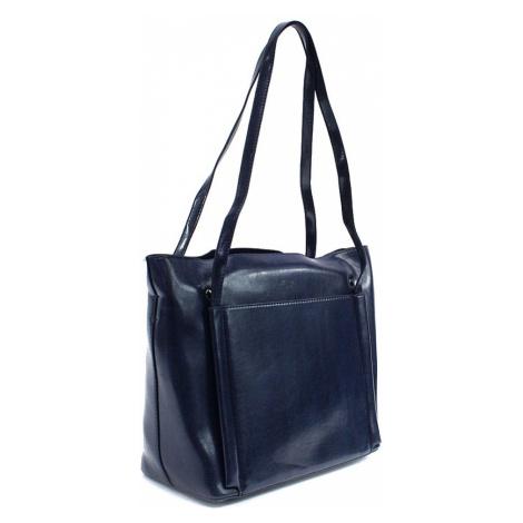 Tmavě modrá dámská luxusní kabelka do ruky i přes rameno Richerre Mahel