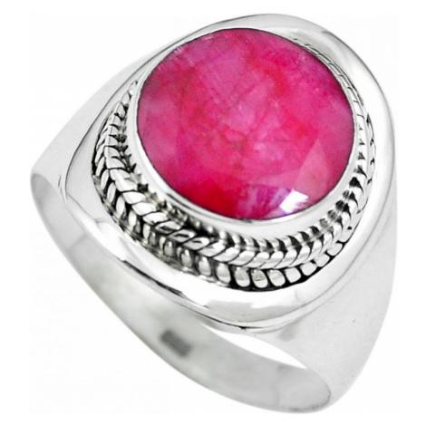 AutorskeSperky.com - Stříbrný prsten s rubínem - S2258