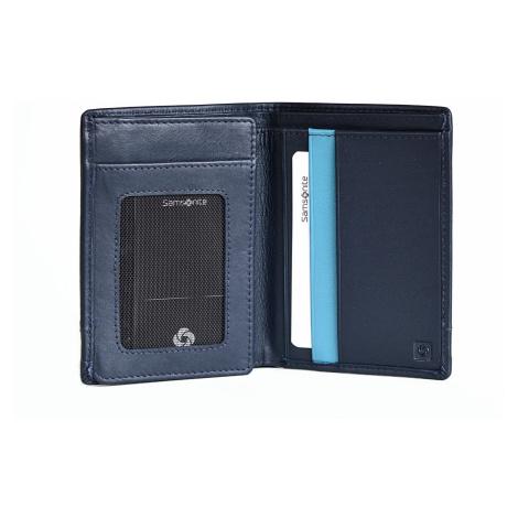 Samsonite pánská peněženka kožená OUTLINE na výšku bez drobných modrá, 9 x 1 x 12 (31D-31109)