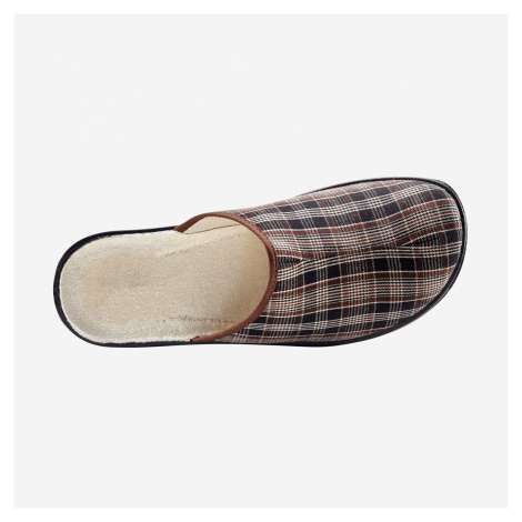 Blancheporte Široké pantofle kaštanová