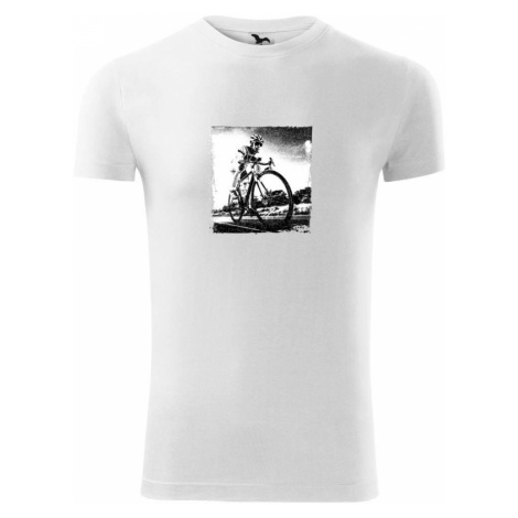 Cyklista černobílá cesta - Replay FIT pánské triko