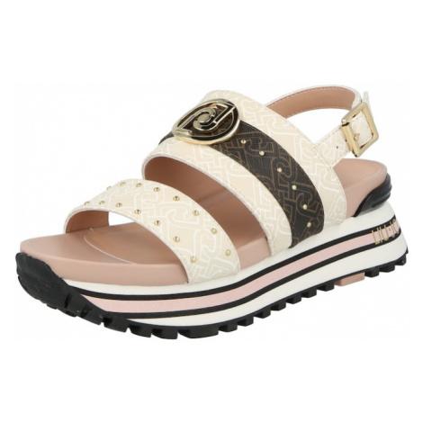 Liu Jo Páskové sandály bílá / béžová / tmavě hnědá / hnědá
