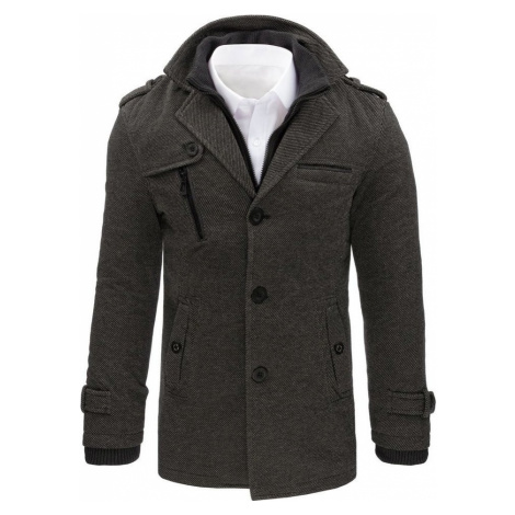 Pánský šedý zimní kabát cx0405 BASIC