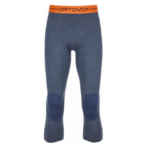 Pánské 3/4 spodky Ortovox 185 Rock´n´Wool Short Pants night blue blend