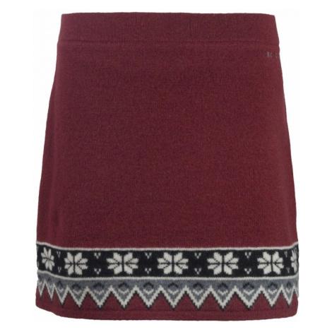 Pletená zimní sukně SKHOOP Scandinavian dark sweet red