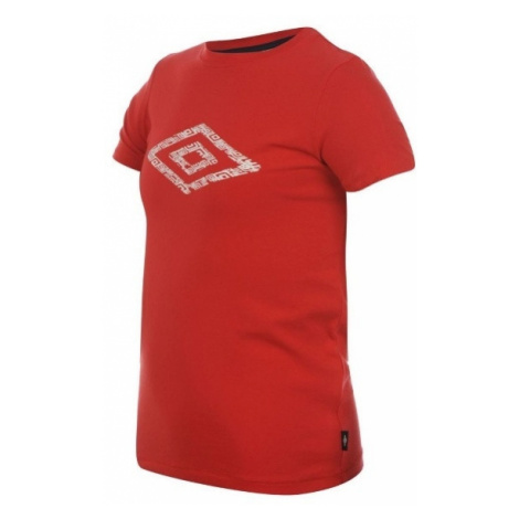 Umbro Cotton Logo T Shirt Boys Red - Červená / 11-12 - Umbro