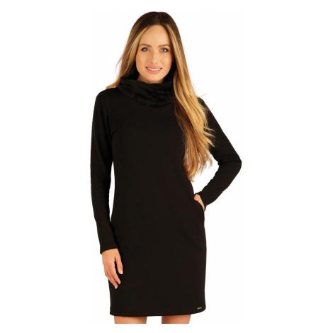 LITEX Mikinové šaty s dlouhým rukávem 7A090901 černá