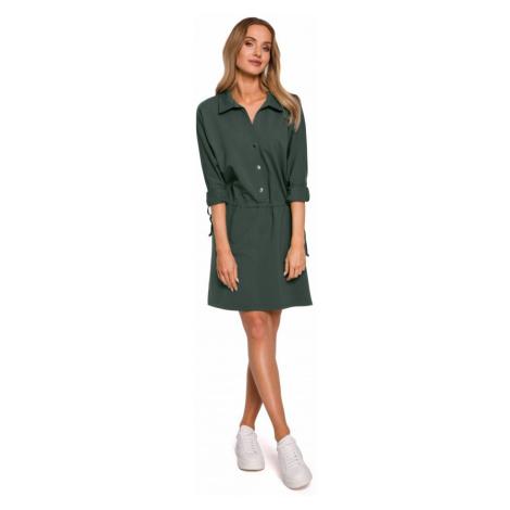 Košilové šaty áčkového střihu MOE M586