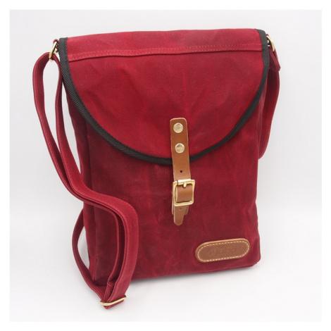 Taška přes rameno JUBÖ Bushcraft WAXED PocketBag - červená