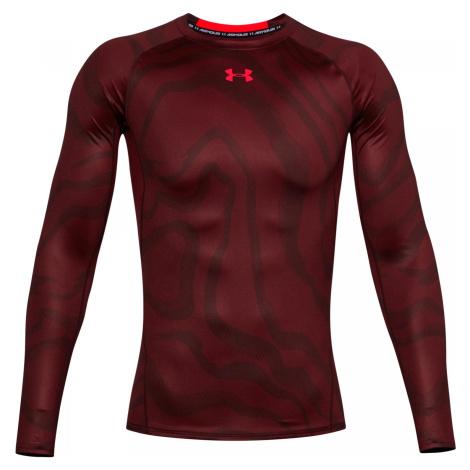 Kompresní tričko Under Armour HeatGear Vínová / Více barev