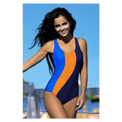 Dámské sportovní plavky Gita modrooranžové Lorin