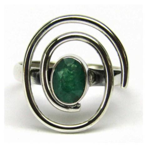 AutorskeSperky.com - Stříbrný prsten se smaragdem - S4723