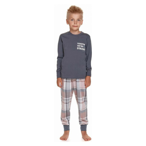 Chlapecké pyžamo Together tmavě šedé dn-nightwear