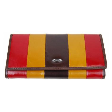Hnědá kožená dámská magnetická peněženka New Berry