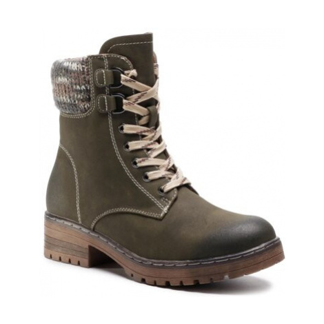 Šněrovací obuv Clara Barson WS5010-01 Ekologická kůže /-Ekologická kůže
