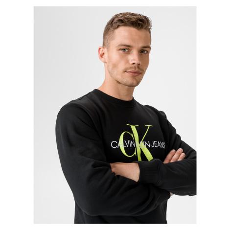 Monogram Mikina Calvin Klein Černá